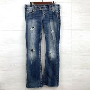 Silver Jeans 31 x 33 Tuesday Fit Distressed Jeans
